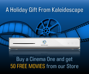 Buy a Cinema One and get 50 FREE MOVIES from our Store